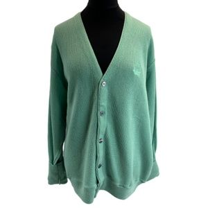 Vintage Izod Mint Green Cardigan Large